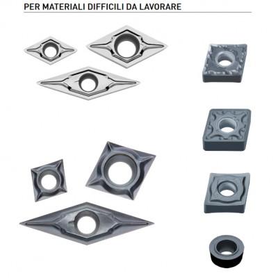 Inserti con rivestimento PVD per la tornitura di materiali di difficile lavorazione