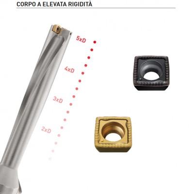 MVX - Punta per elevata stabilità e per profondità di perforazione fino a 6xD