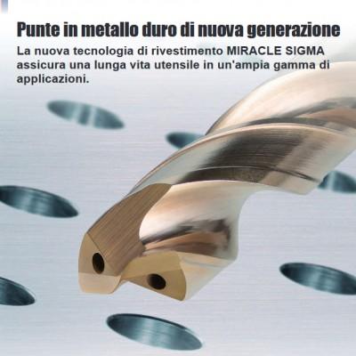 Mini MVS (Ø 1 - 2.9mm) - Tecnologia di rivestimento Miracle Sigma per una lunga vita utensile