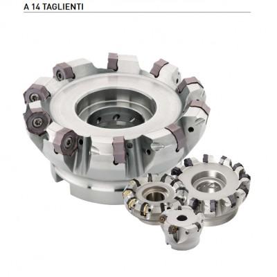 AHX440S - Ideale per sgrossatura su macchine di piccole dimensioni, possibilità di avanzamenti elevati