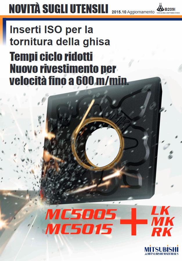 Serie MC5000 - Inserti ISO per la tornitura della ghisa