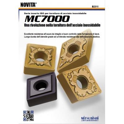 Serie MC7000 - Inserti rivestiti in CVD per tornitura di acciaio inossidabile