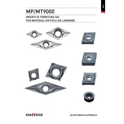 Serie MP9000 - Inserti con rivestimento PVD per la tornitura di materiali di difficile lavorazione