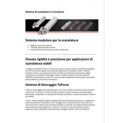 Sistema modulare per la scanalatura