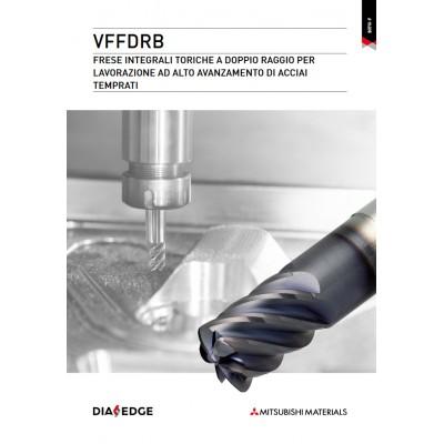 VFFDRB - Frese integrali toriche a doppio raggio per lavorazione ad alto avanzamento di acciai temprati